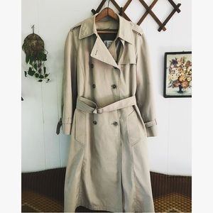 Vintage London Fog Sherpa Lined Trench Coat